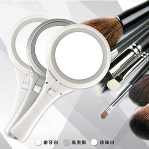斐色耐LED手柄双面化妆镜子 可折叠成台式梳妆镜5倍放大镜 包邮