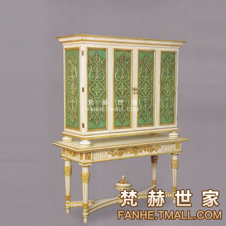 梵赫欧式柜实木雕花间储物柜子f10 (5)