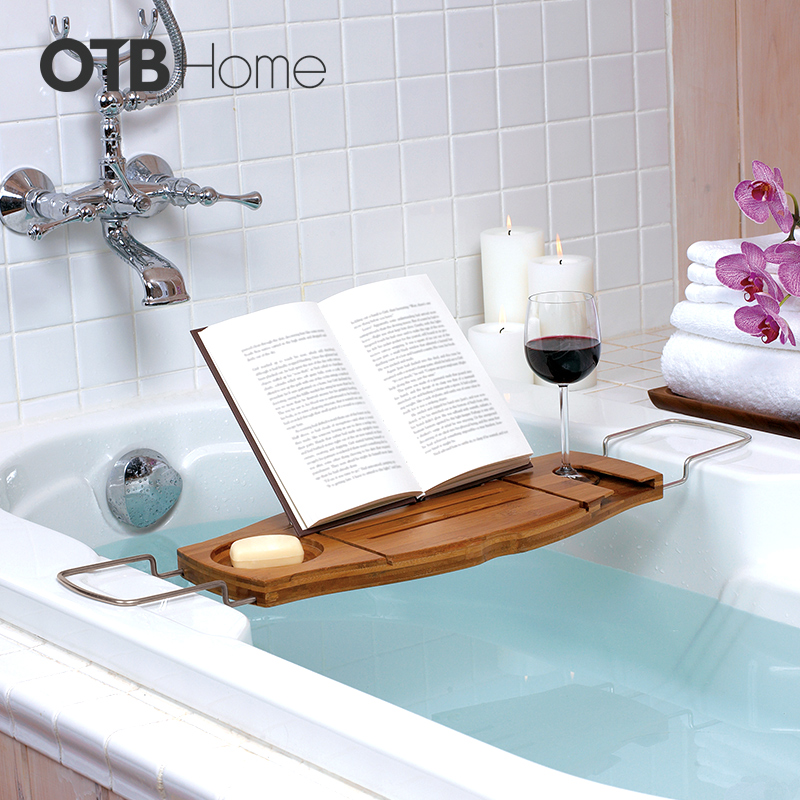 umbra浴缸架伸缩式竹制置物架020390
