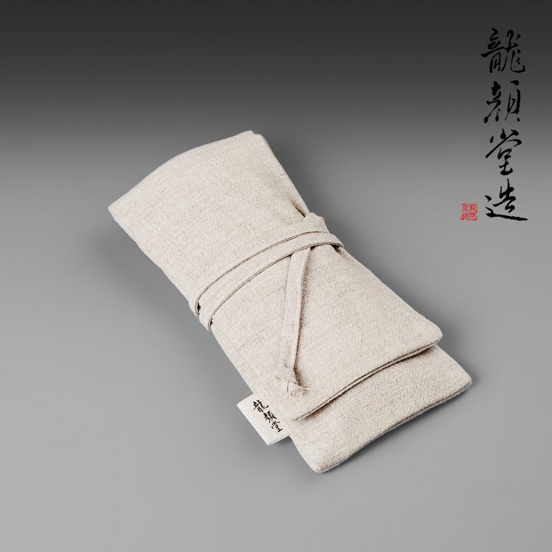 龙颜堂棉麻袋茶具茶则布袋