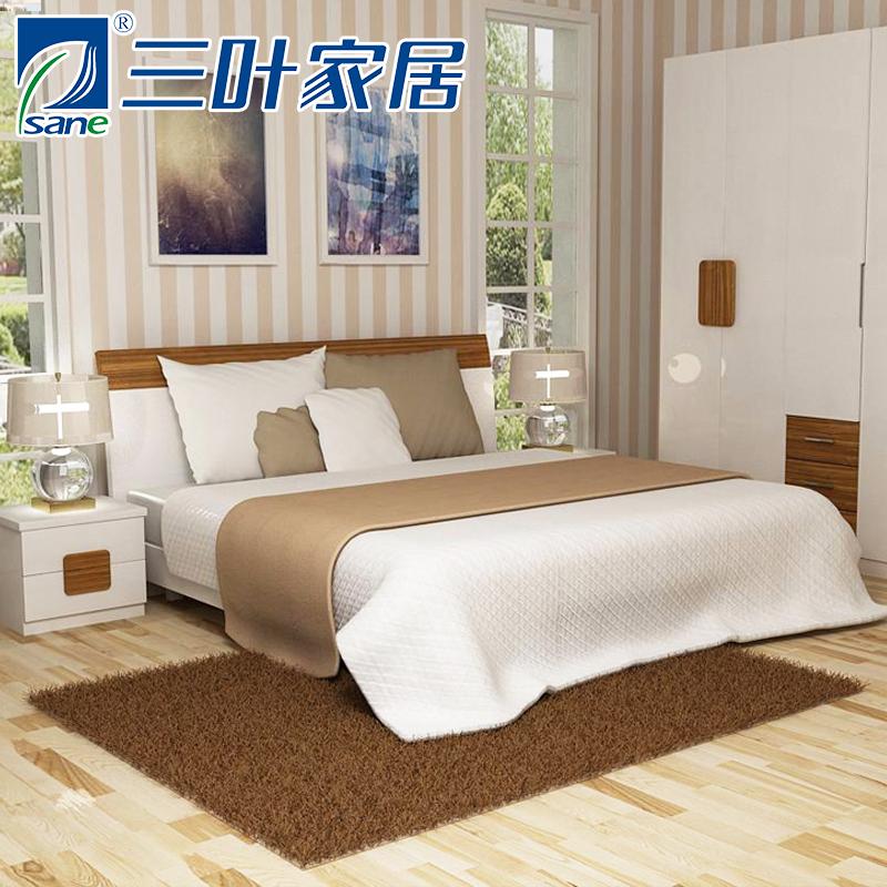 三叶家私板式普通床13D-C06卧室套件