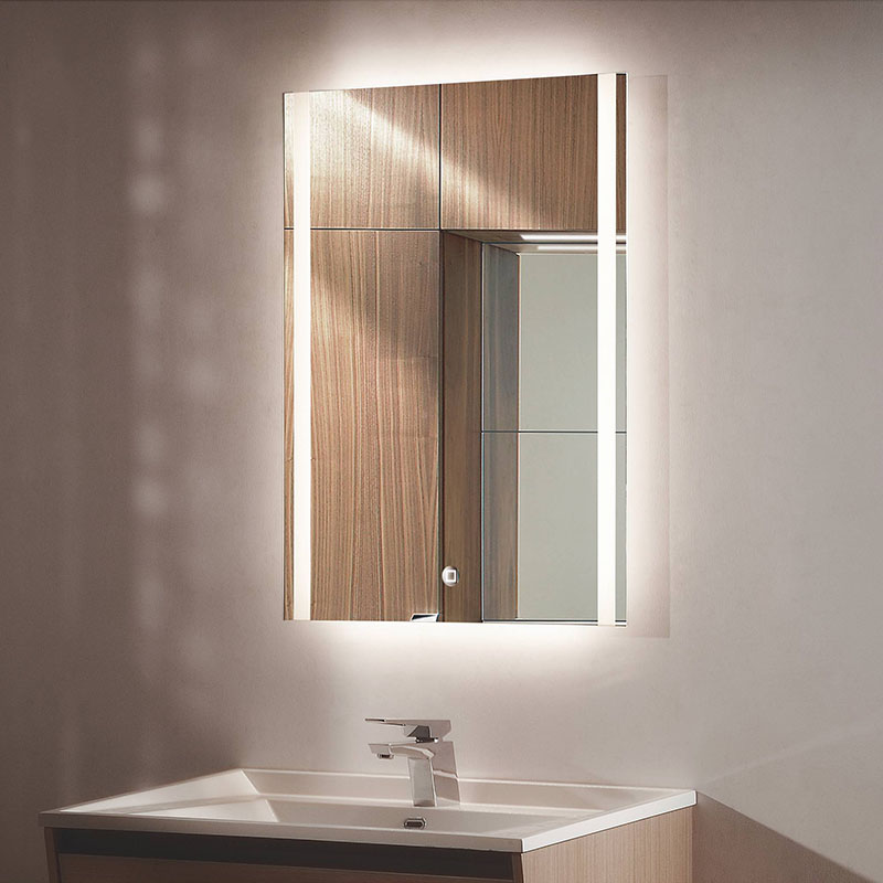 ac银晶方形简约现代无框壁挂led背光灯镜YJ-2466