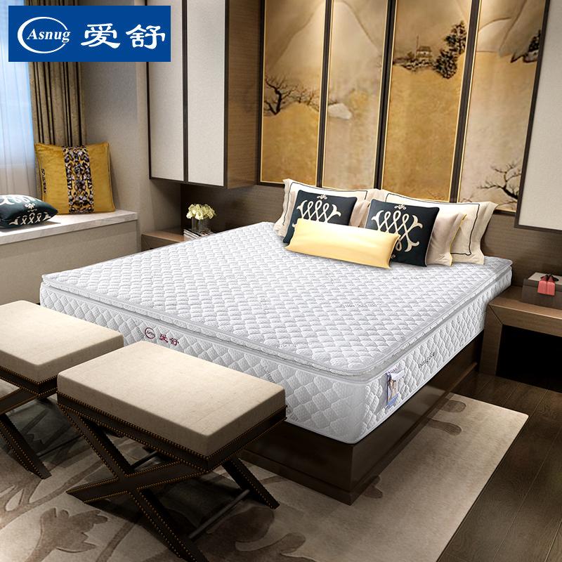 爱舒床垫超级白金e深睡护脊1.8米双层弹簧床垫超级白金E