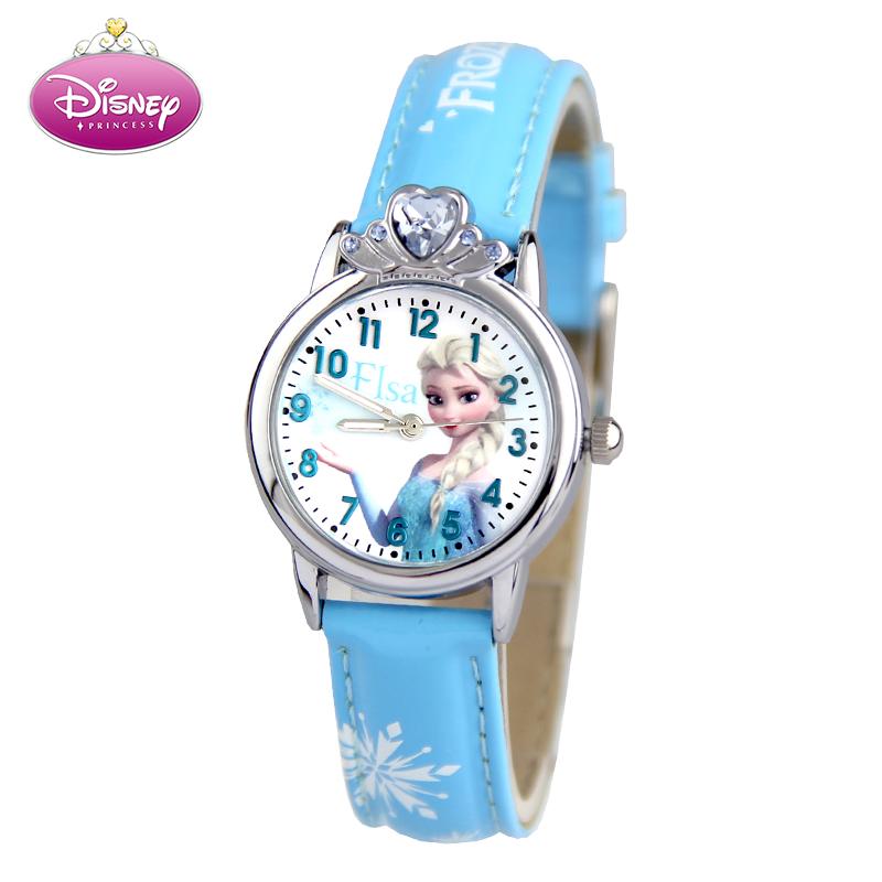 迪士尼冰雪奇缘儿童手表女孩石英表小学生可爱卡通儿童手表女童表