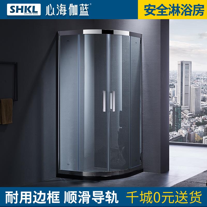 心海伽蓝不锈钢淋浴房整体移门JY5262422