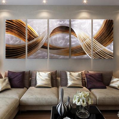 客厅沙发背景墙装饰画现代简约壁画北欧抽象画无框挂画大气油画