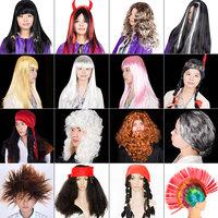 搞笑万圣节化妆舞会cosplay鸡冠头搞怪海盗演出道具头套派对假发