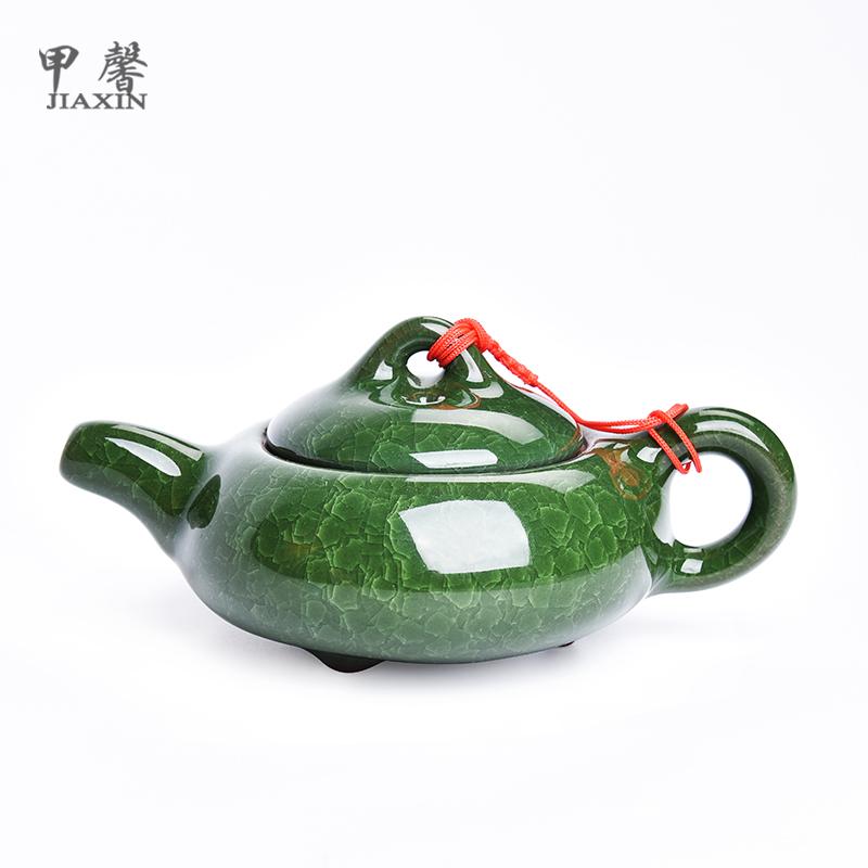 甲馨茶具茶壶冰裂陶瓷茶壶JXDP2023