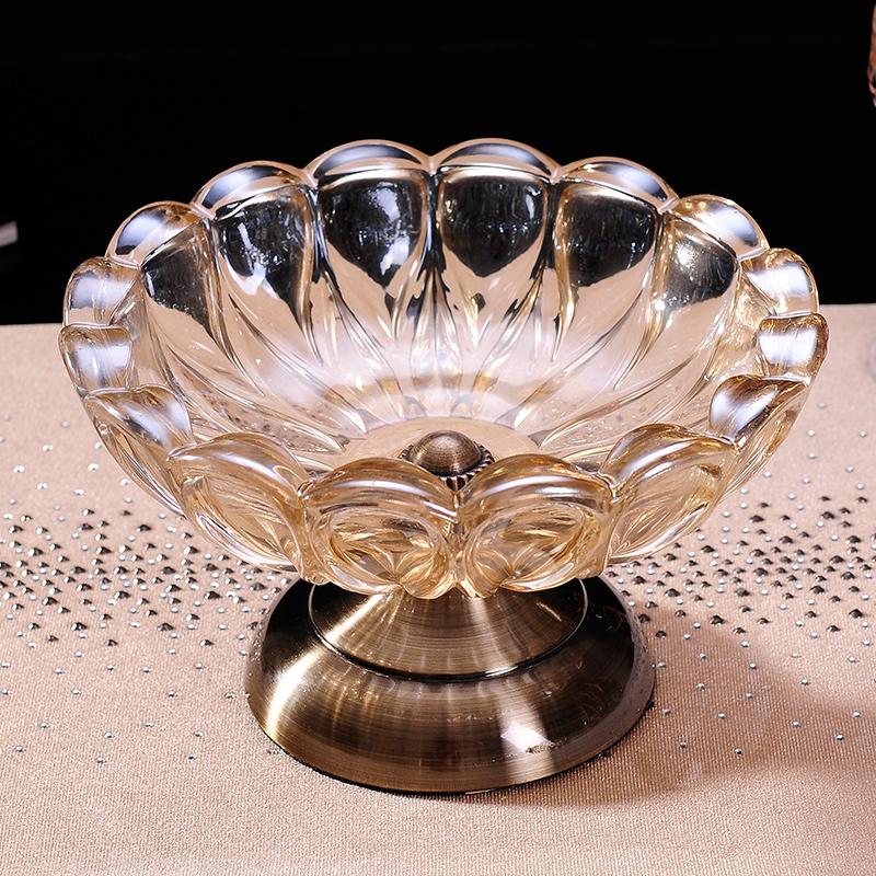 英伦欧堡水晶玻璃果盘HG602