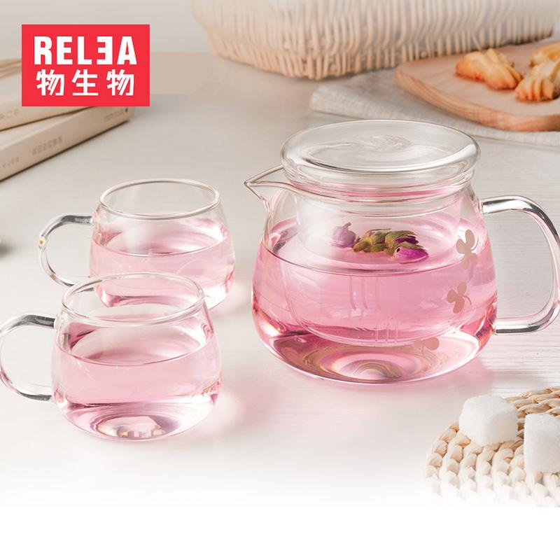 物生物耐热高温玻璃茶壶JV0101017