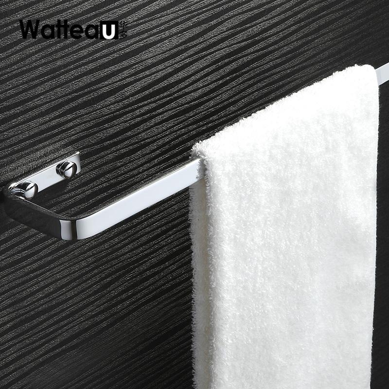 华多卫浴挂件单杠铜毛巾架 单杆毛巾杆卫生间浴室毛巾挂架铜