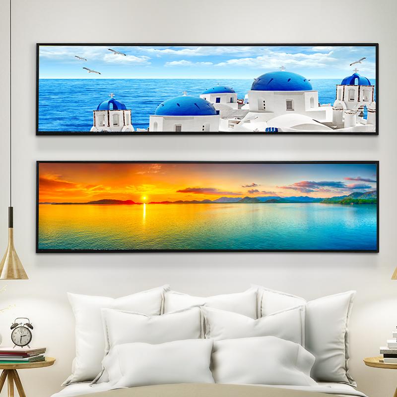 简约卧室床头画装饰画客厅现代简约沙发背景墙壁画餐厅有框挂画