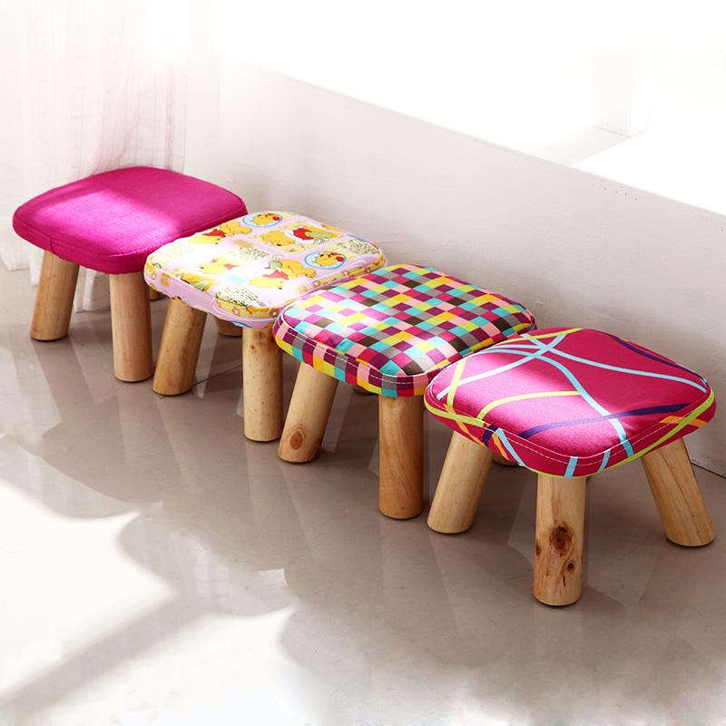 御唐轩换鞋凳圆凳实木矮凳DX121
