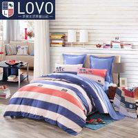 lovo家纺罗莱生活出品床品全棉纯棉四件套斜纹床单被套1.8m床被单