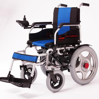上海吉芮电动轮椅车残疾人老人老年代步车轻便折叠带坐便D1801