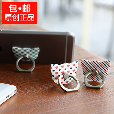 Hao Xin original Apple 6 6s Samsung vivo cat creative ring bracket finger buckle universal lazy phone accessories