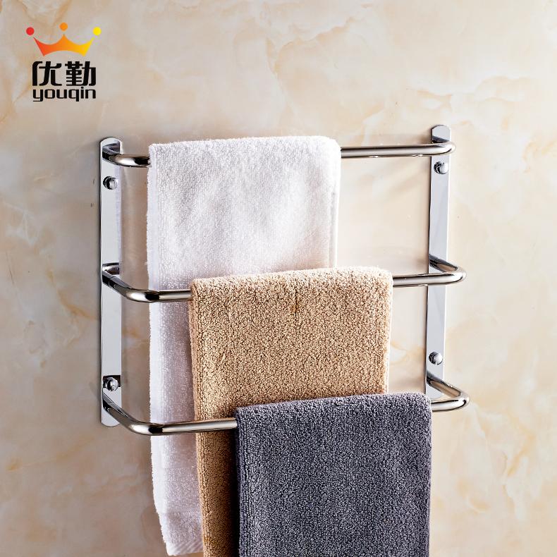 优勤卫浴浴室三层毛巾架(304不锈钢)
