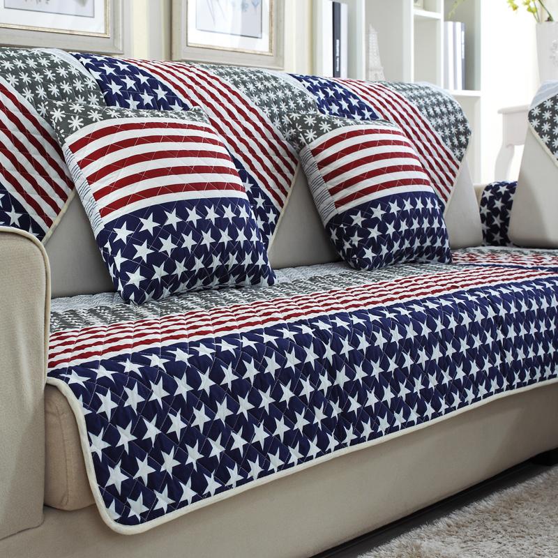 佰力屋全棉布艺沙发垫