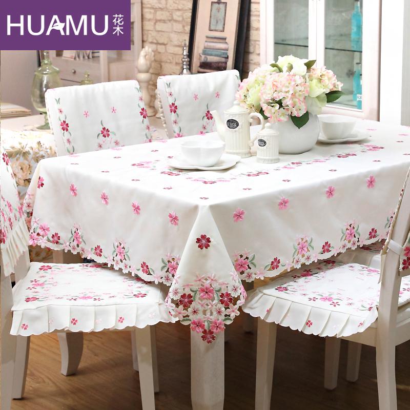 花木日式绣花餐桌布上野樱花桌布