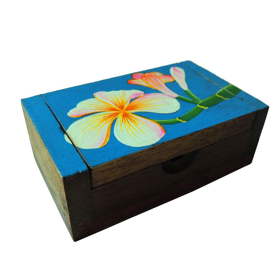 诗玛哈泰国工艺品木雕彩绘牙签盒T0670