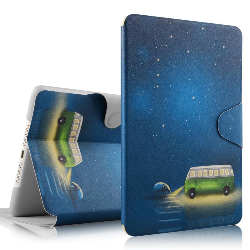 苹果iPad mini2保护套mini3壳mini4卡通超薄迷你1皮套送钢化膜