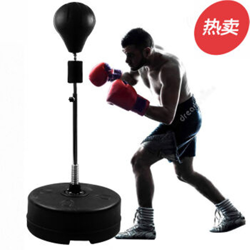实心速度球立式家用沙袋拳击球发泄减压球儿童成人不倒翁健身器材