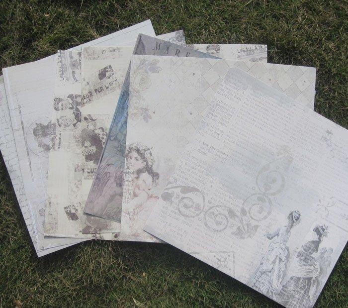 Фотоальбом Выезд 12-дюймовый ручной записки фон бумаги DIY альбом узорной бумаги джем альбом цвет бордюра