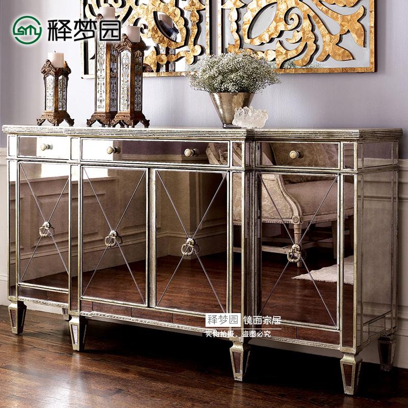 释梦园 镜面餐边柜镜面家具玄关柜收纳柜新古典后现代欧式 F0774