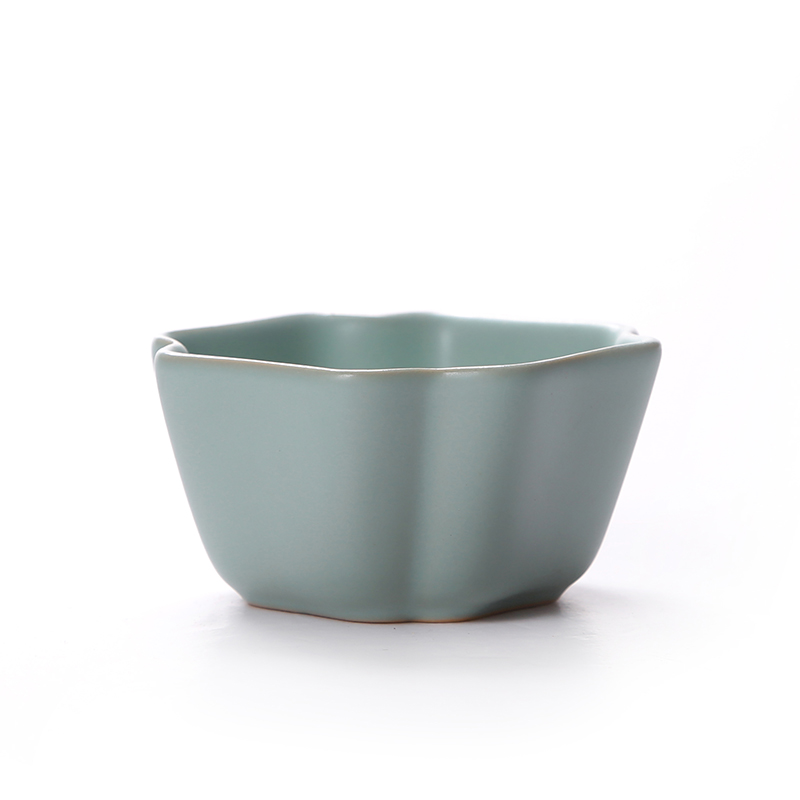 云在青天汝窑杯子日式品茗杯铁壶垫