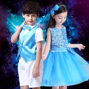 六一儿童合唱服女童幼儿舞蹈演出服