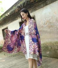 шарф Пять национальных Золотого хлопок цветы