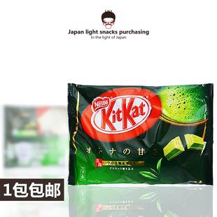 日本进口 kitkat雀巢奇巧 宇治抹茶巧克力威化夹心饼干12枚135克