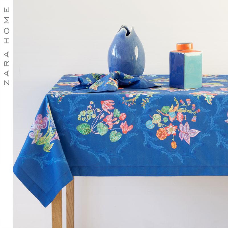 ZARA HOME花朵印花桌布