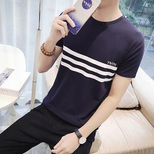 印花男士短袖t恤纯棉圆领T恤