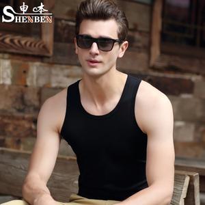 男士背心纯棉修身型紧身运动健身青年打底衫弹力夏季潮牌吊带t恤