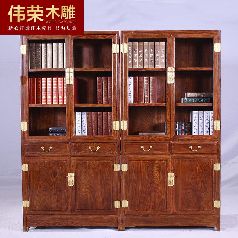 伟荣中式红木书柜b04