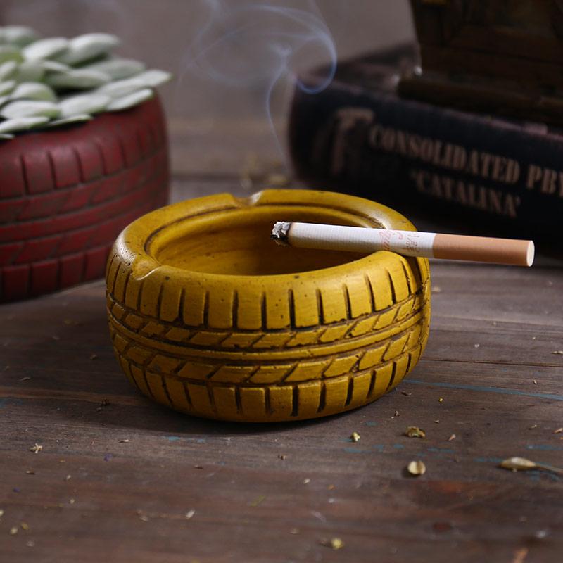 时光巴士创意烟灰缸9606D- 水泥轮胎烟灰缸