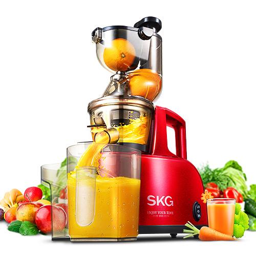 skg A8大口径原汁机家用全自动果汁榨汁机果蔬多功能渣汁分离