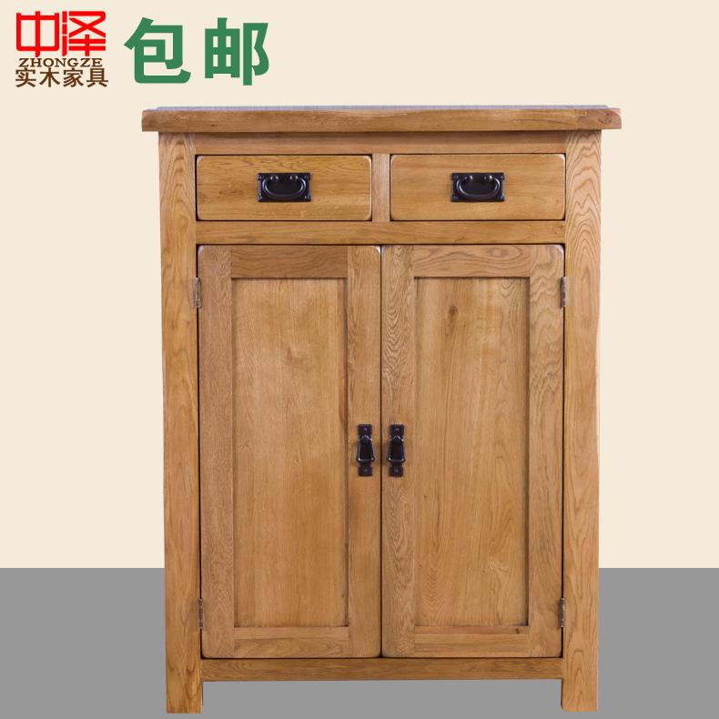 中泽纯全实木白橡木家具柜