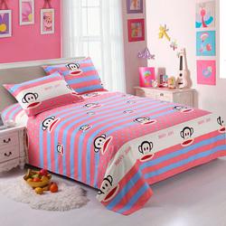 富欧  磨毛双人床单单件 可爱卡通风单人学生宿舍夏季1.5米1.8米2.0米