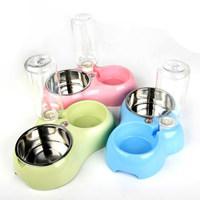 狗碗 猫碗自动饮水双碗狗盆猫盆不锈钢猫狗食盆饮水器宠物用品