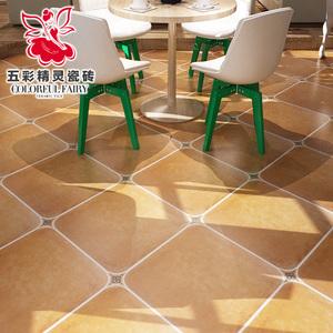 五彩精灵 美式乡村风格 圆角砖 花片 客厅 仿古砖 瓷砖角花 75mm