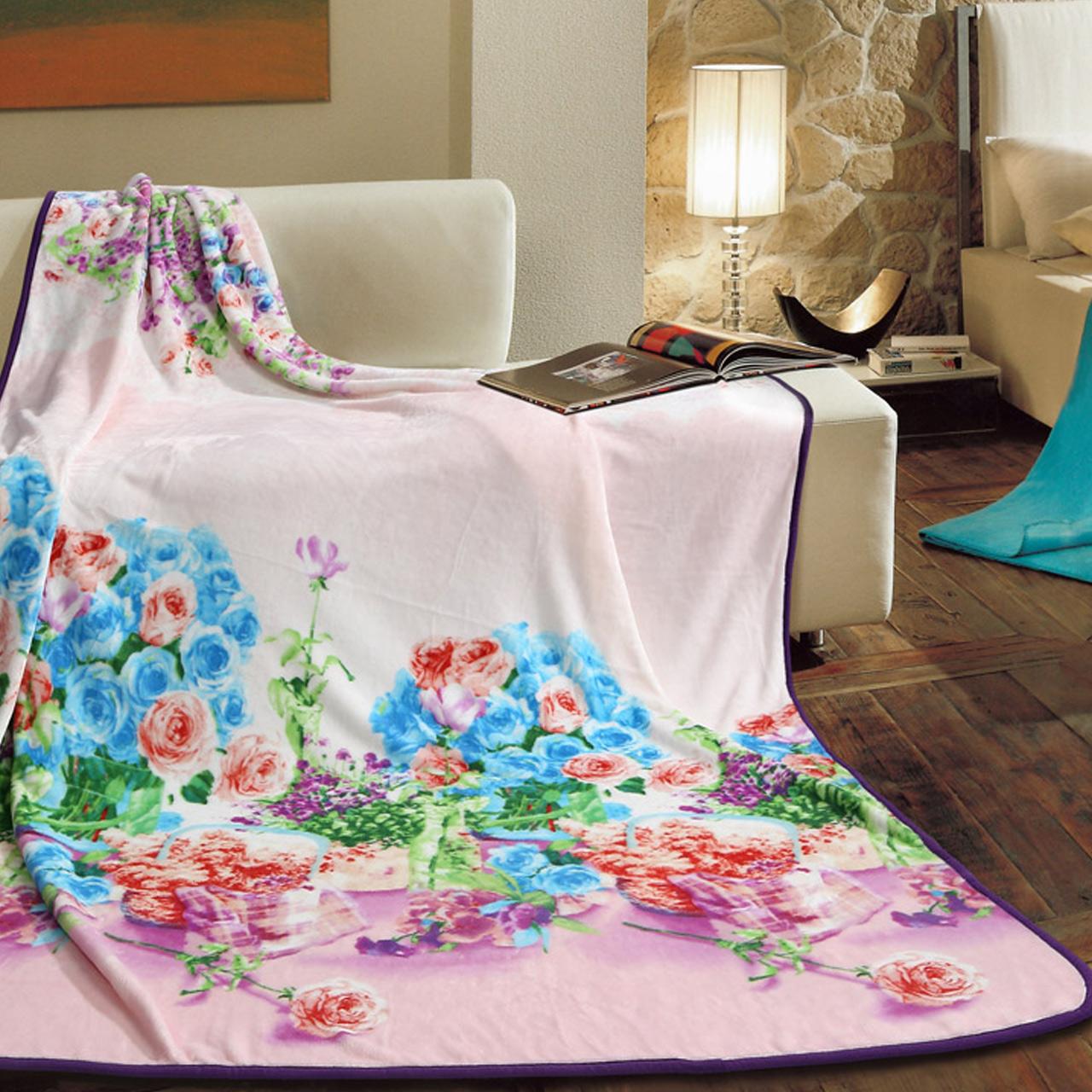 富安娜家纺圣之花毛毯910101157
