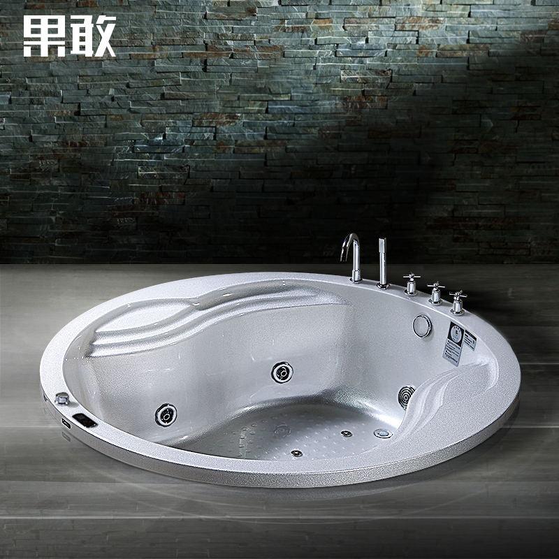 果敢冲浪按摩圆缸珠光板亚克力浴缸z763