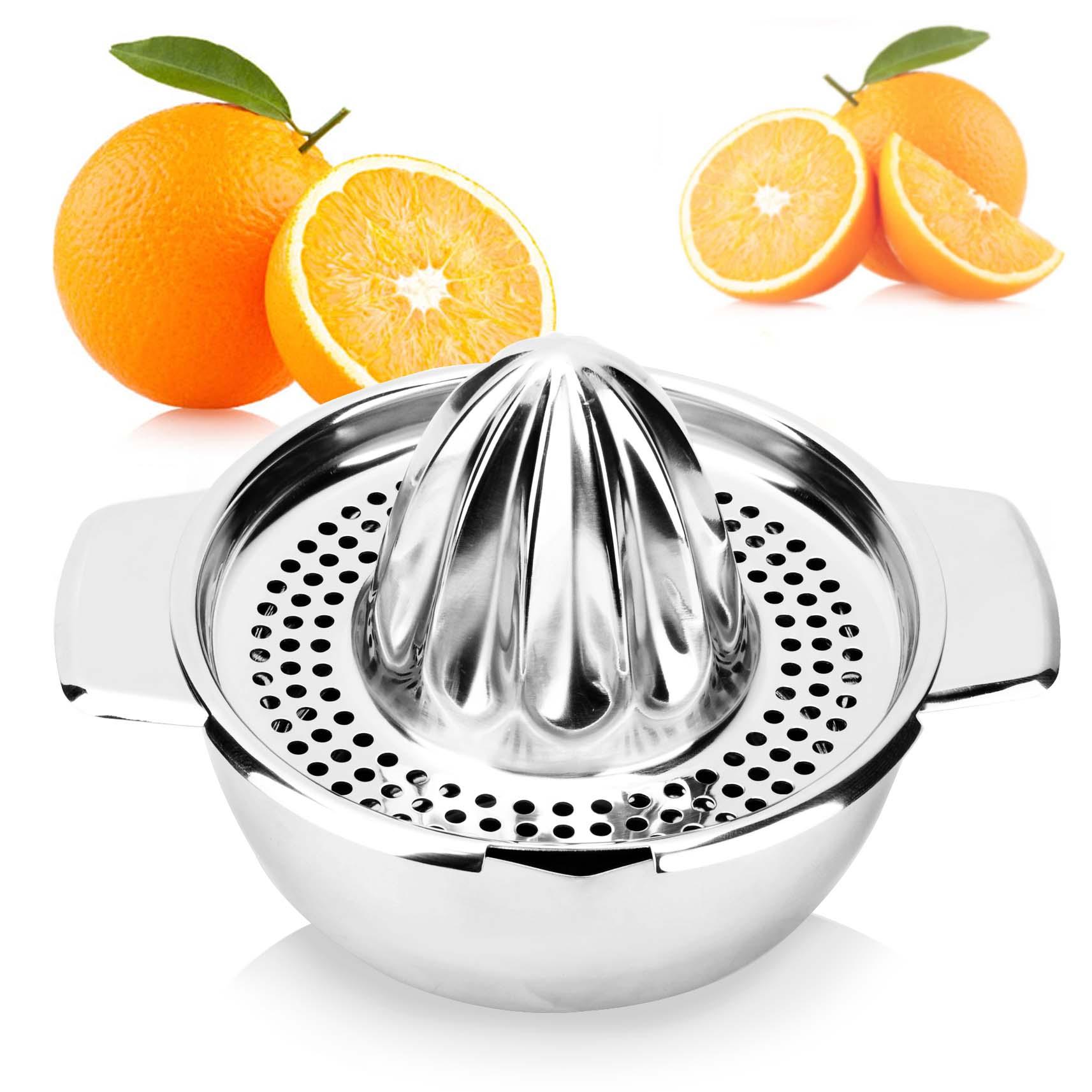 大号加厚304不锈钢手动榨汁家用机婴儿果汁机简易水果迷你榨汁机