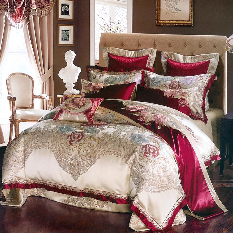 瑶台居欧式宫廷风豪华婚庆乔迁新房床上用品样板房间多件套G1SSMY