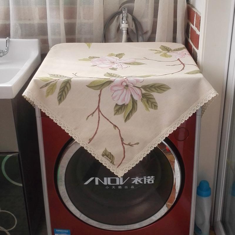 珍珠松床头柜罩牡丹洗衣机罩1