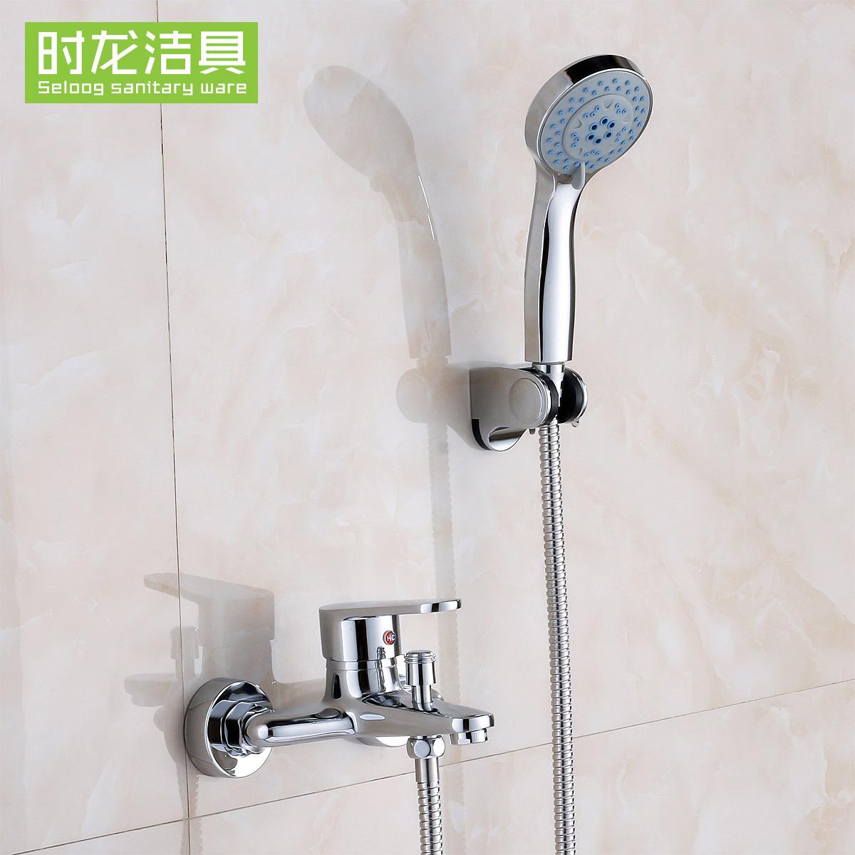 时龙全铜浴缸淋浴单花洒141004