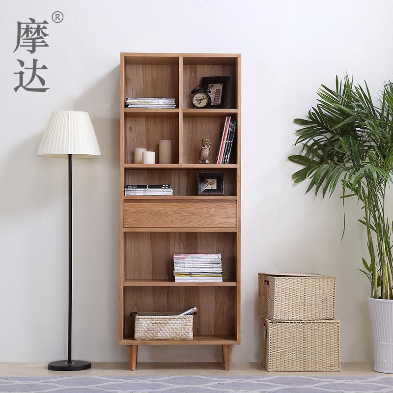 摩达日式实木书柜MDXX-2-RS606