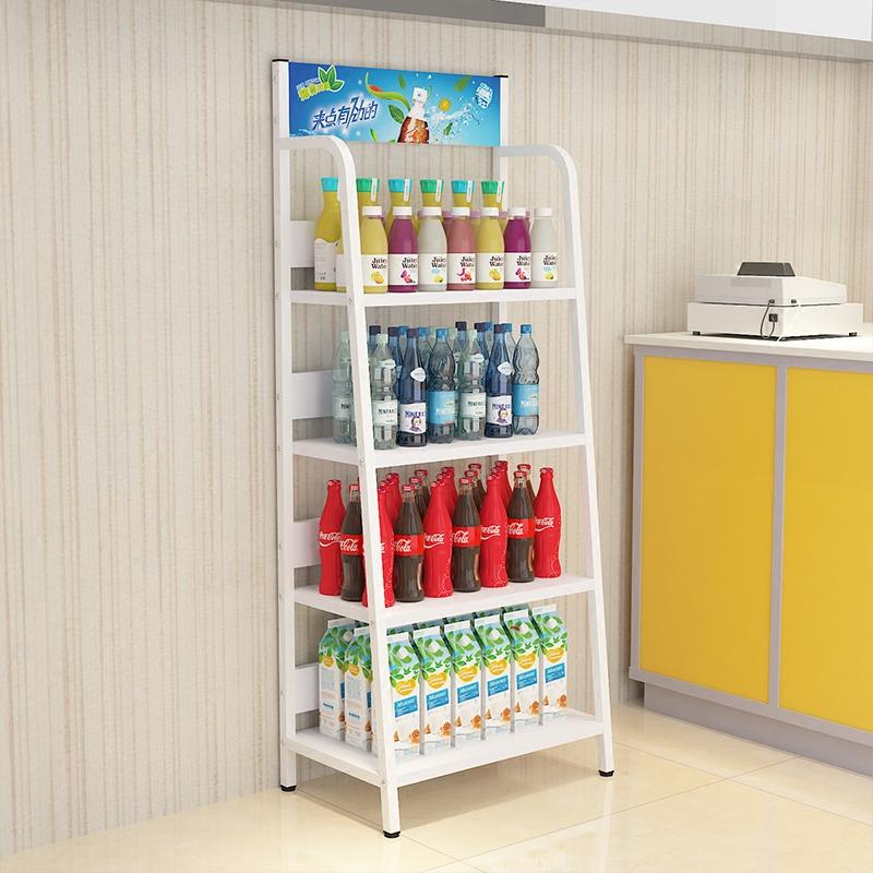 超市便利店饮料架零食置物架落地创意商店展示架陈列架仓储货架子